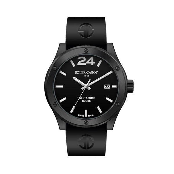 RELOJ ALL BLACK 24 H